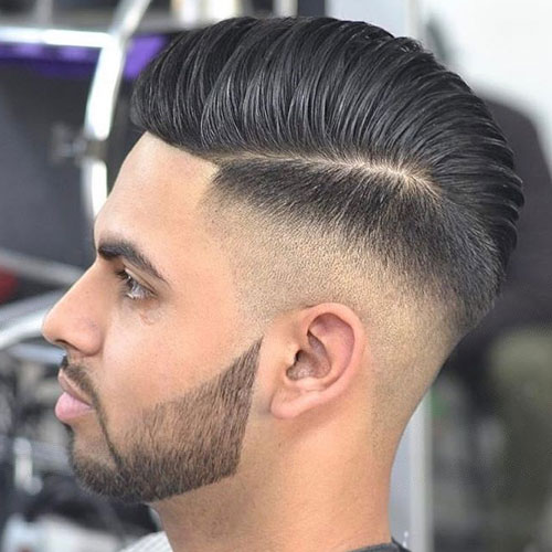 Awesome Hairstyles for Men | High Faded Skin along with Swept Hair by Side