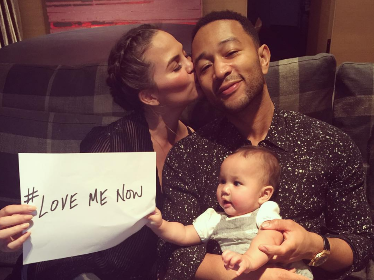 #Chrissy Teigen and John Legend welcomed their first daughter, Luna Simone, just previous year.
