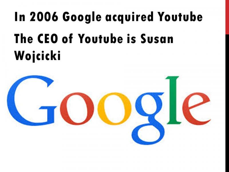 Google acquired YouTube in Oct. 2006. The deal was made on $1.65 billion.