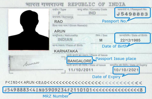 passport book number