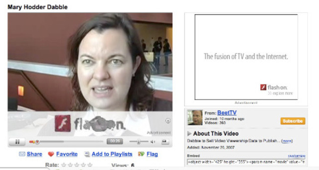 Google placed the first ad on YouTube on Aug. 2007.