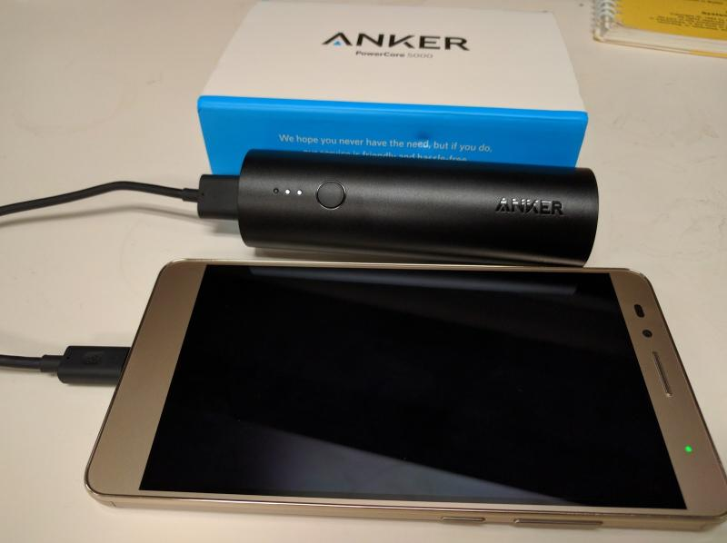 Anker PowerCore 5000 portable battery (Price: $15)