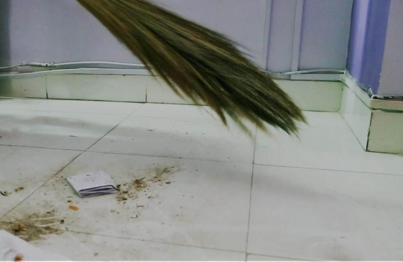 Sweeping House after sunset cause misery and poverty.