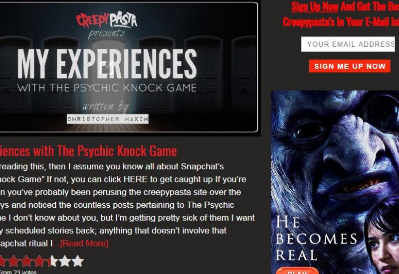 Strange Website