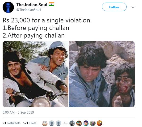Delhi Police 23000 Challan In Hindi