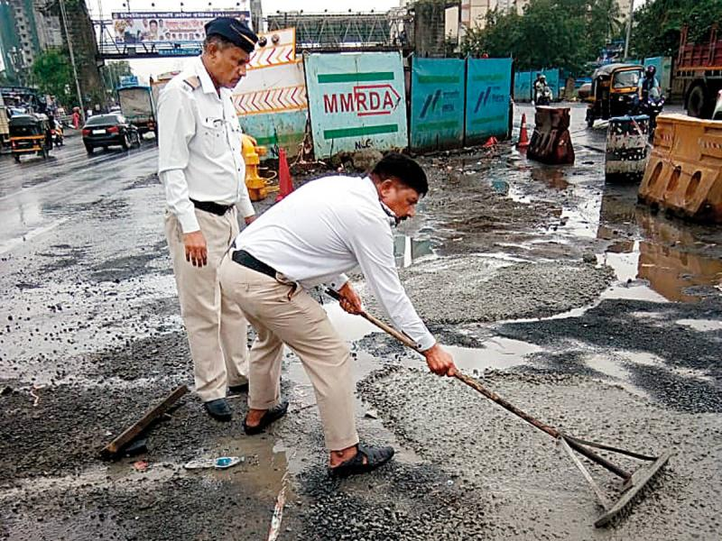 Road Repairing two Policemen Story