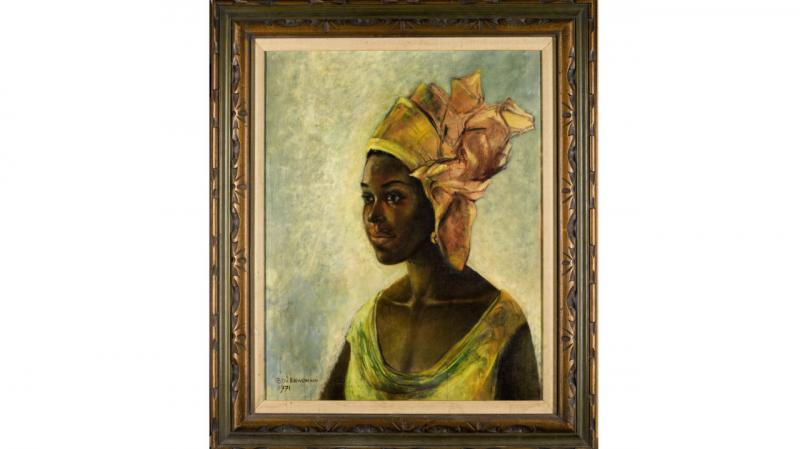 African Mona Lisa Real Painting