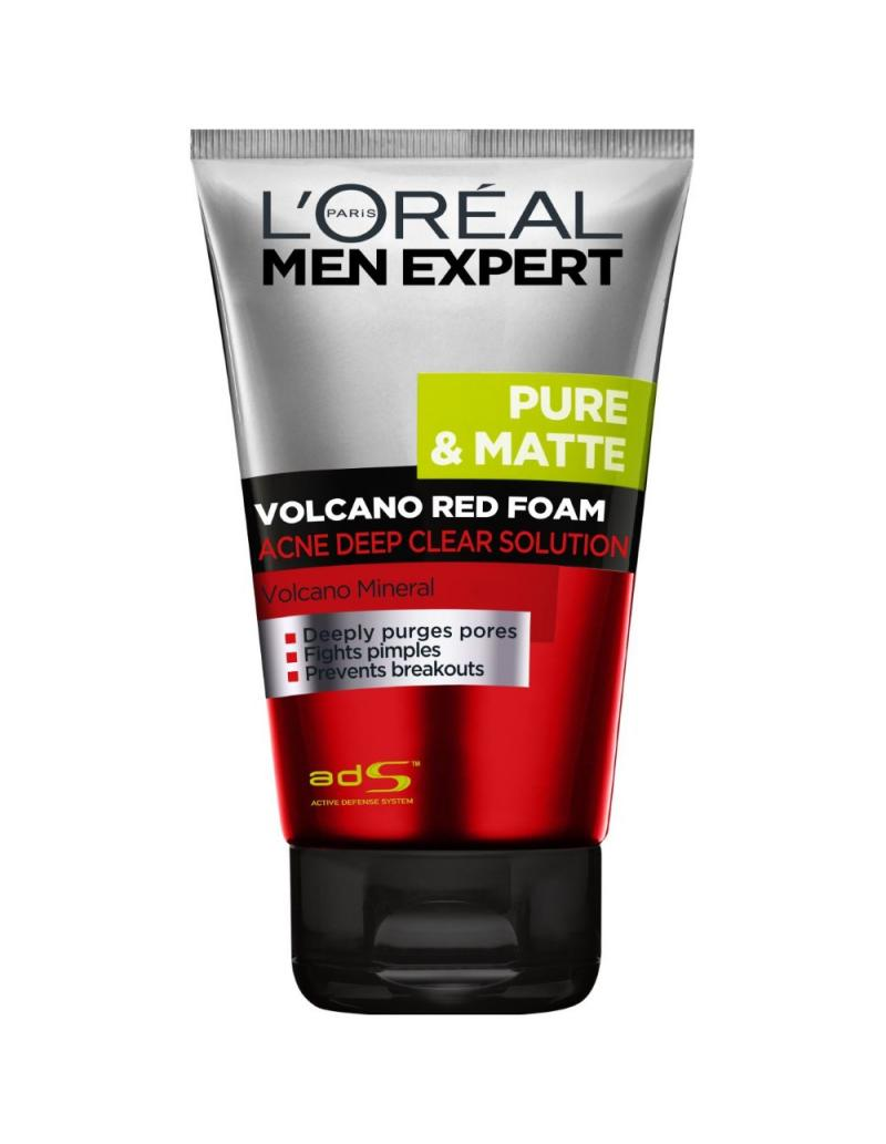 Best Face Wash for Pimples and Oily Skin –Volcano Red Foam Face Wash