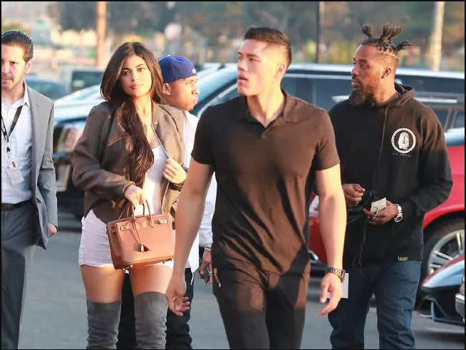 FANS of the Kim Kardashians are dying over Kylie Jenner's hot and handsome bodyguard.