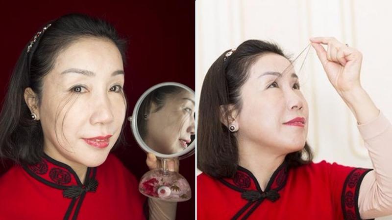 Lady with Longest Eyelashes