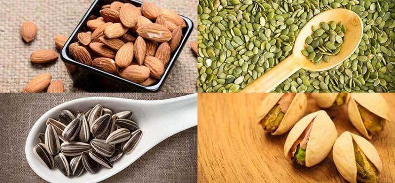 Nuts and seeds - Easily available Protein rich diet