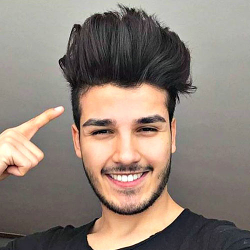 Awesome Hairstyles for Men | Upper Top Brushed With Short Sided Hair
