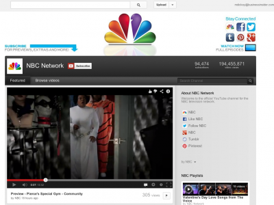 YouTube dealt with NBC in June 2006, to make the company digitally efficient.