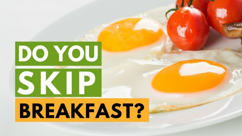 3. Skipping breakfast