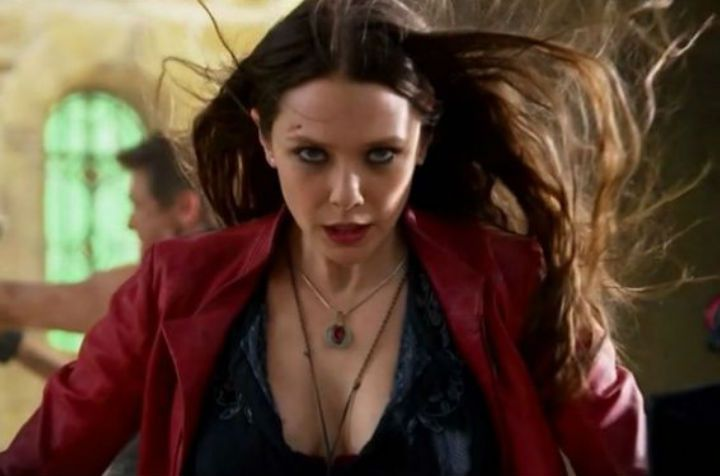 Elizabeth Olsen aka Scarlett Witch in the Avengers: Infinity War.