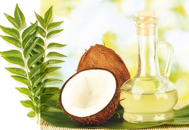 Curry Leaves and coconut Mix stregthen the Hair Follicles and vigors Hairs from Root to Tip.