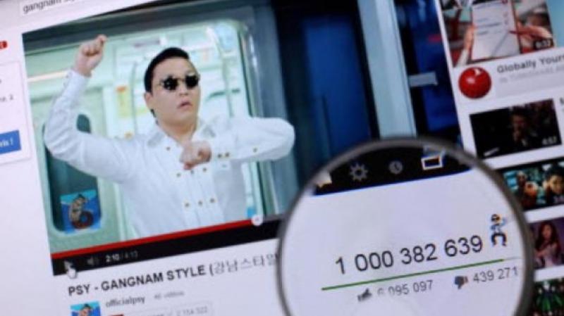 YouTube Got his one billion views video as Gangnam Style in Dec. 2012.