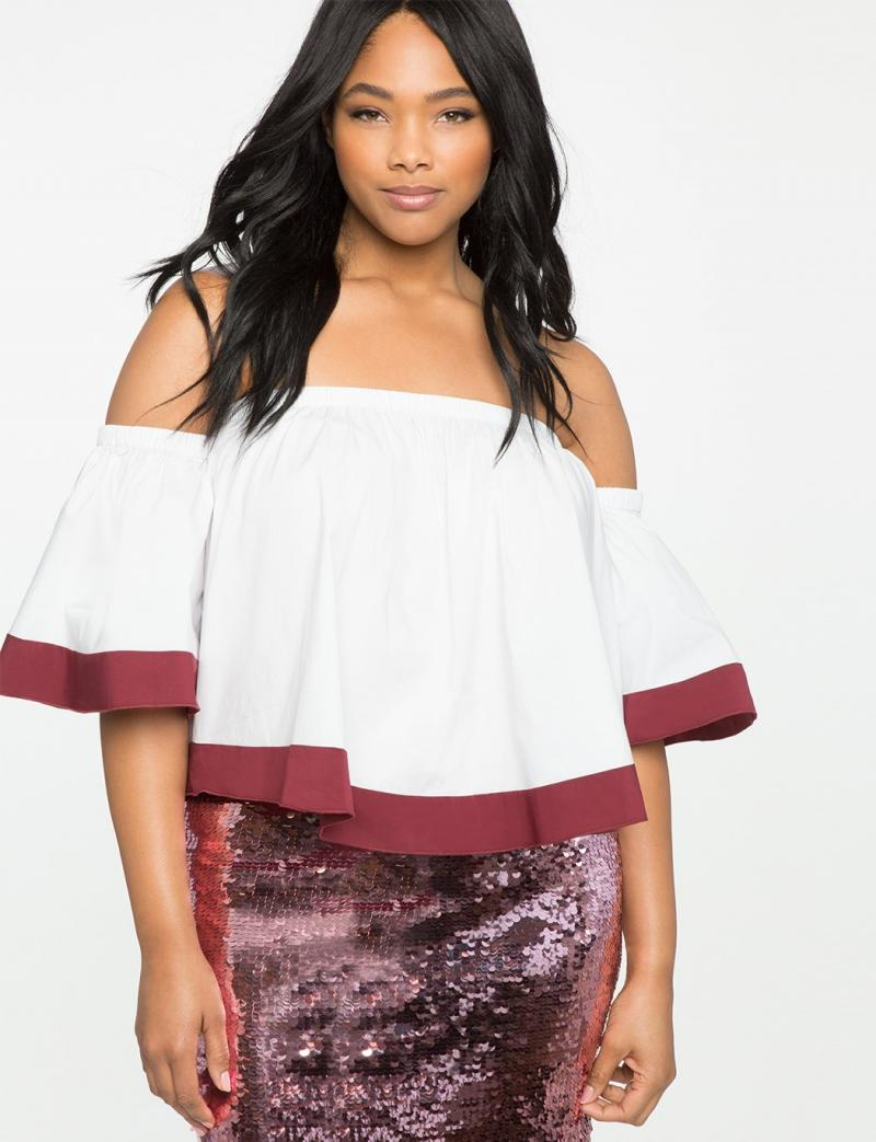 White Off Shoulder Dress For Busty Ladies