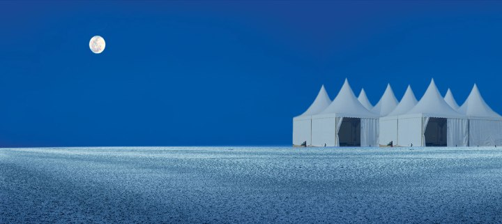 At the middle of Rann of Kutch