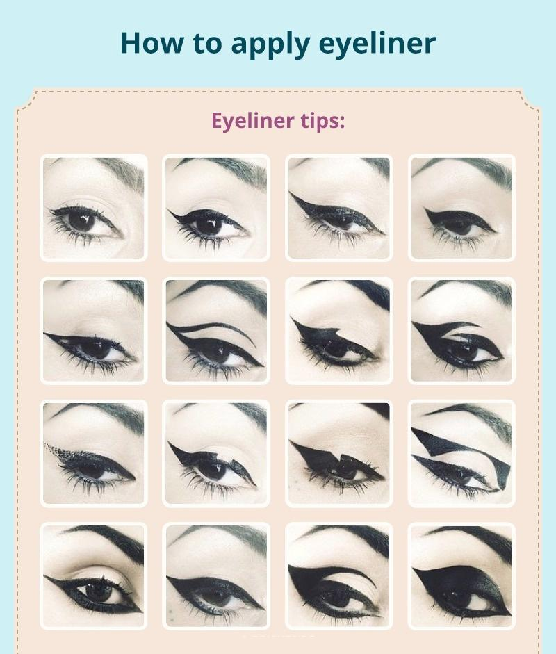How to apply eyeliner in summer