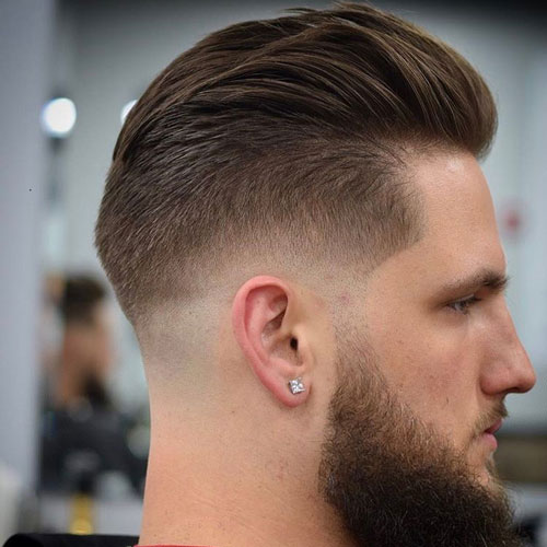 Awesome Hairstyles for Men | Back Sided Long Slicked Hair with Low Fading