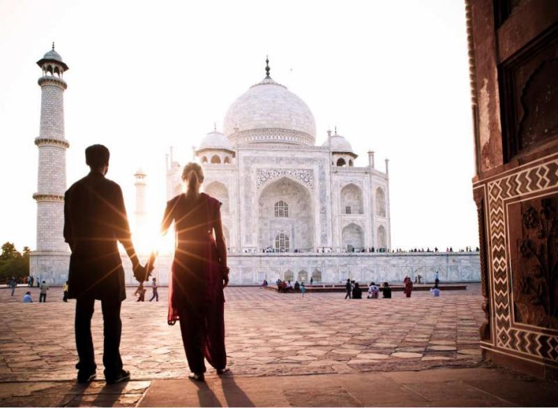 At the Front of Symbol of Love - Taj Mahal