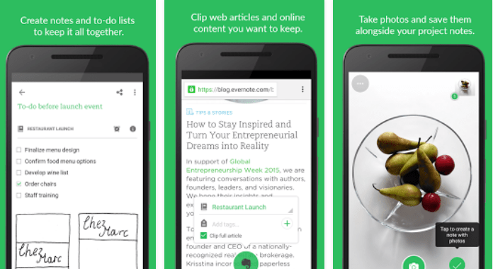 Evernote -Apps that Must Have For Entrepreneurs in their Smartphones