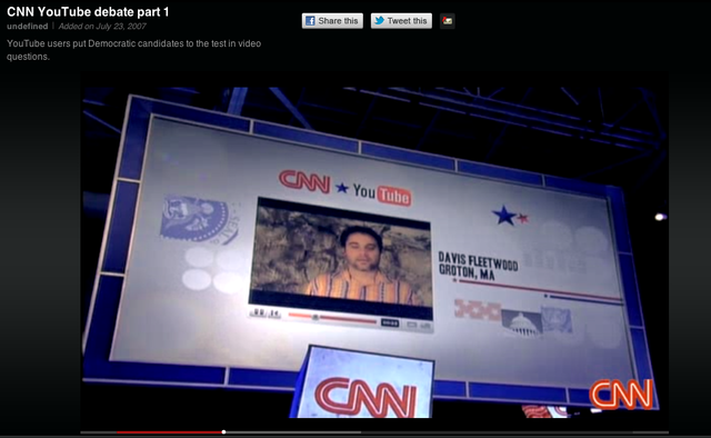 YouTube signed up with CNN in July 2007 for telecasting the presidential debate based on election 2008.