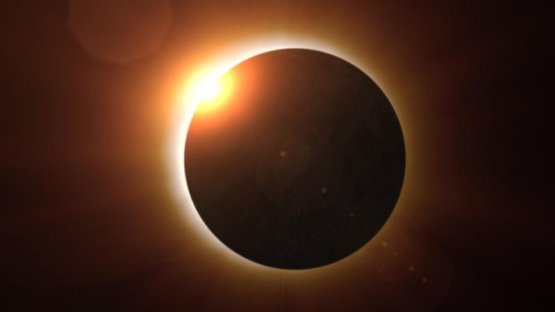 We do not step out or eat during an eclipse so as to keep negative energies at bay