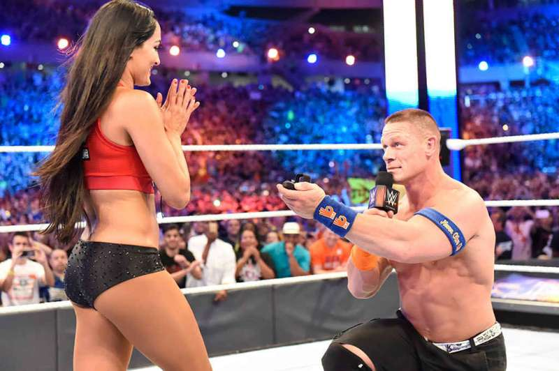 Pictures of John Cena and Nikki Bella Proposing