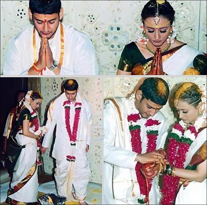 Mahesh Babu and Namrata shirodkar Wedding image