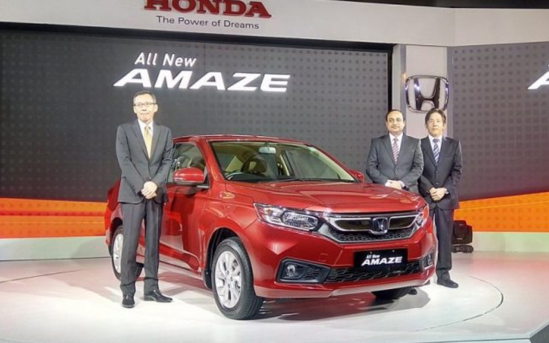 New Honda Amaze Car 2018 Specifications, Price and Features in India