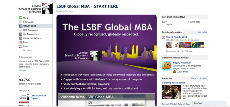 Online MBA London From  London School of Business and Finance