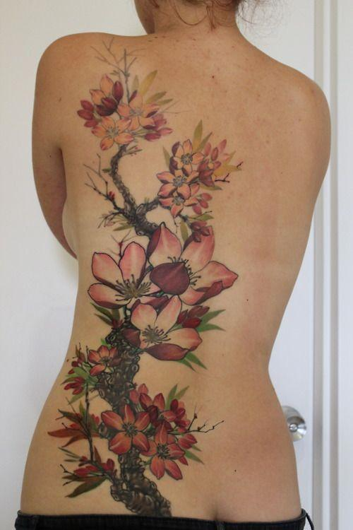 Neck and Back Tattoo