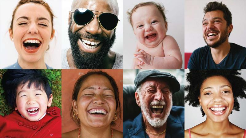 Laughter relieves anxiety and stress.