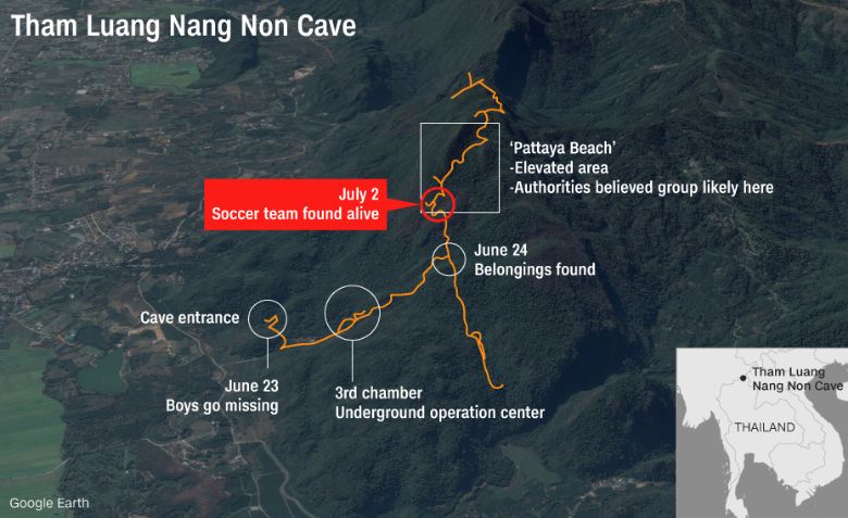 Thai Soccer Team Alive in Cave