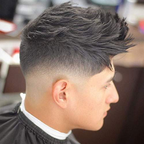 Awesome Hairstyles for Men | Spiky Hair Textured with Lower Faded Skin