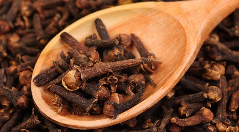 According to Ayurveda, cloves have Anti-fungal, Antibacterial Antiseptic properties and is a good Analgesic.