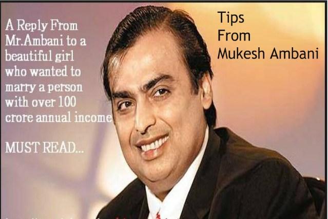 Mukesh Ambani's business minded reply