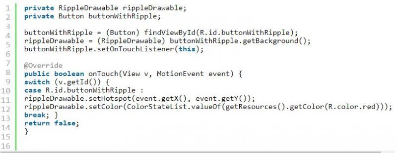 Android Ripple Effect Code