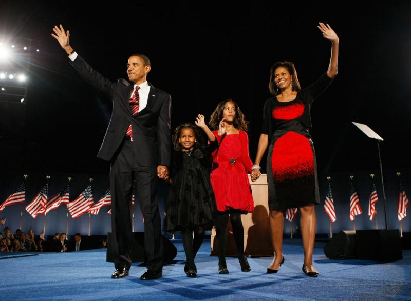 # Michelle and Barack Obama have two daughters.