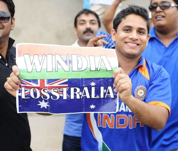 2. An Indian fan flaunted this creative  posters for India's win.