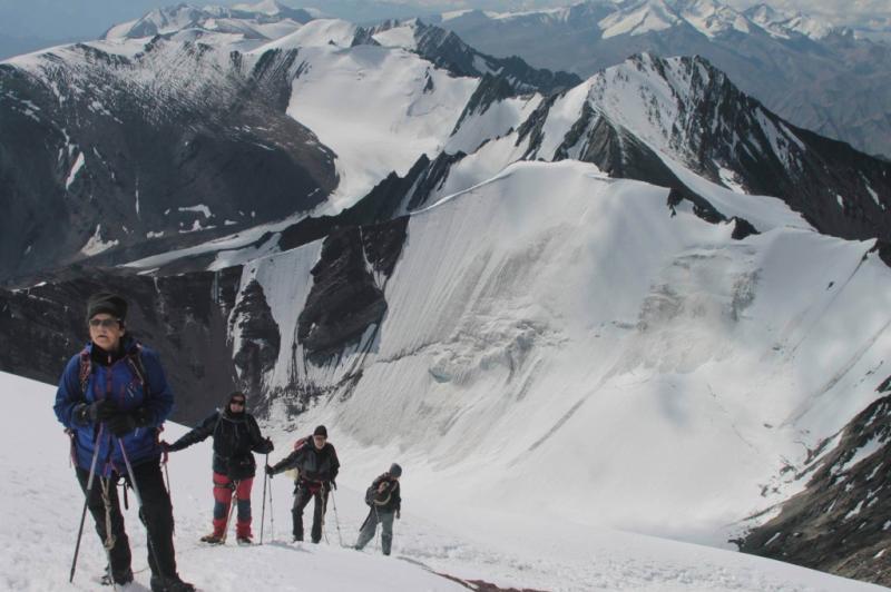 Stok Kangri Trekking in summer